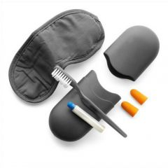 Travel set in a grey case