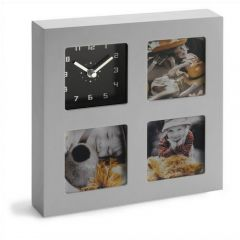 Analogue Clock And Photo Holder