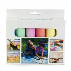 Chalk In Six Different Colours.
