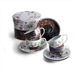 Set Of Cappuccino Cups And Saucers