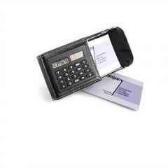 Calculator And PU Card Holder