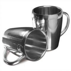 Set Of Two Steel Mugs