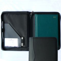 a5 zipped diary wallet