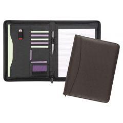 chiddingstone a4 zipped leather folder