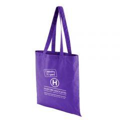 coloured cotton bag purple