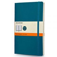 moleskine soft cover large notebooks - underwater blue