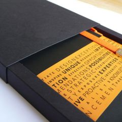 gift carton with slide lid for medium notebooks