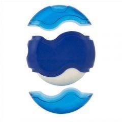 wave sharpener eraser blue