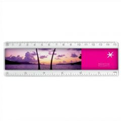 150mm white ruler with printed insert