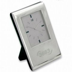 Torino Silver Clock